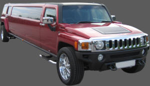 Candy Appled red Hummer limousine for hire