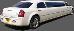 Chrysler 300 stertched limo in vanilla white